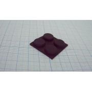 НОЖКА ПРИБОРНАЯ RF-012 резина, черный 13х4.5мм, самоклеящаяся,
