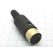 РАЗЪЕМ DIN 13pin №1-384 штекер на кабель пластик