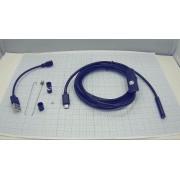 БОРОСКОП 7мм 2м мягкий кабель  USB/MicroUSB
