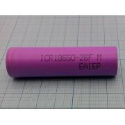 АККУМУЛЯТОР ICR 18650-26F (Li-ION) 3,7В 2600мА/ч