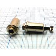 ГНЕЗДО 3,5 мм с гайкой №1-090 моно, на корпус, металл,