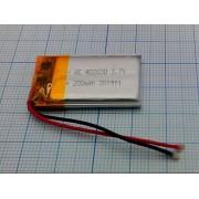 АККУМУЛЯТОР LP 402030-PCM (Li-POL) 3,7В 200мА/ч