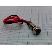 ЛАМПА 6мм 220В влагостойкая синяя, светодиодная