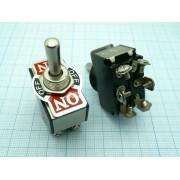 ПЕРЕКЛЮЧАТЕЛЬ KN3C(B)-223A  (аналог (П2Т-5)) (on-off-on) возвратный